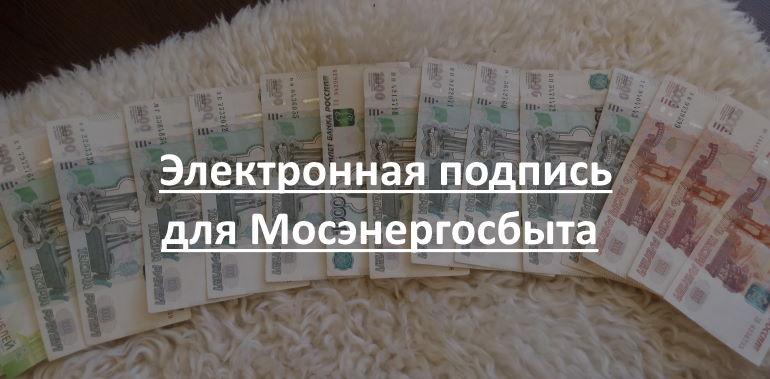 Электронная подпись для Мосэнергосбыта