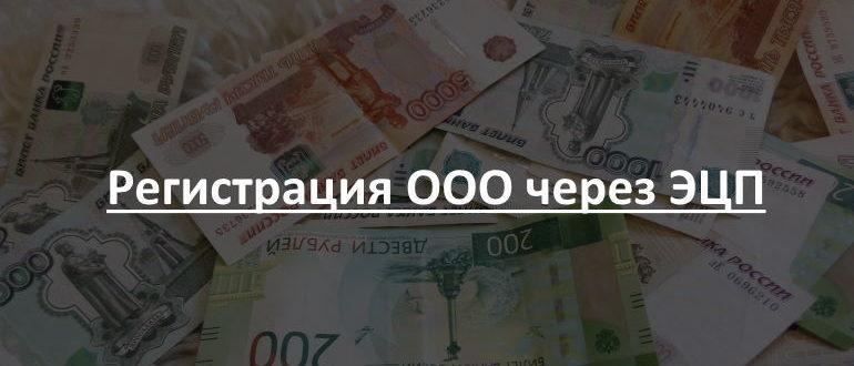 Регистрация ООО через ЭЦП