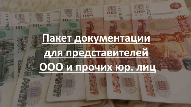Пакет документации для представителей ООО и прочих юр. лиц